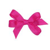 Wee Ones® Baby Classic Grosgrain Hair Bow w/Plain Wrap Centre - Antique White