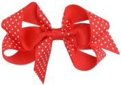 Bows Arts Mini Dot 10cm Bow -Red/White