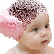 LOCOMO Baby Girl Headband Wide Band Big Flower Floral Wedding FBA018