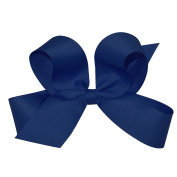 Wee Ones® Large Classic Grosgrain Hair Bow on Pinch Clip w/Plain Wrap Centre - Antique White