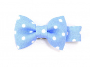 Classy Polka Dot Bow - Baby Girl & Toddler Hair Clip - Red, Pink, Blue, Brown & Black