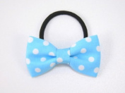 Polka Dots Classy Bow - Baby Girl & Toddler Hair Band / Ponytail Holder - Red, Pink, Blue & White