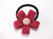 Sassy Flower - Baby Girl & Toddler Ponytail Holder / Hair Band - Pink, White, Red & Purple