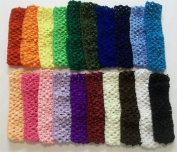 3 Maddie Soft Crocheted Stretch Headbands for Flowers Bows or Clips