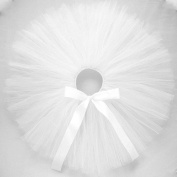 Naive Angel - Tutu Skirt w RibbonBow for Baby, Girl, Toddler & Woman - Silky White