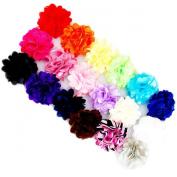 Ema Jane - Mini Mesh Satin Hair Flower Clips