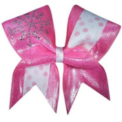 Pink Snow Princess Cheer Bow