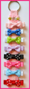 Funny Girl-Set of 8 Polka Dot Hair Bows & Free Bow Holder!