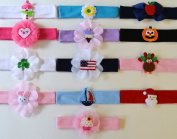 13 Piece Holiday Baby Toddler Cotton Headband Set