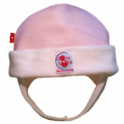 Dots on Tots Organic Cotton Ear Flap Hat - Pink