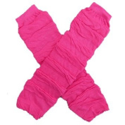 Ruched Hot Pink - Leg Warmers - for my Infant, Baby, Toddler, Little Girl