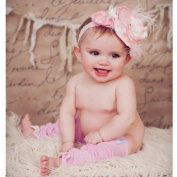 Huggalugs Baby Girls Vintage Smitten Legruffle Leg Warmers Newborn Pink