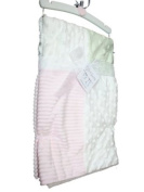 kyle & deena Baby-girls Newborn Triple Patchwork Blanket On Novelty Hanger