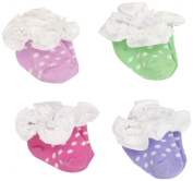 Country Kids Baby-Girls Infant Frilly Dot Sock