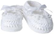 Jefferies Socks Baby-Girls Infant Pearl Ribbon Bootie