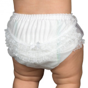 I.C. Collections White Nylon Rumba Nappy Cover Bloomers