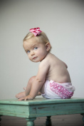 Pink Ruffle Bloomer with Hot Pink Stitching