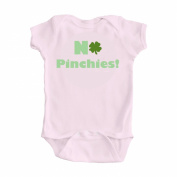 St Patricks Day No Pinchies Pink Girl One Piece Bodysuit