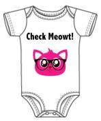 Cheque Meowt Cat Baby Onesie