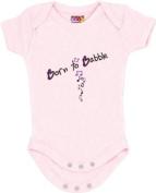 """Born to Babble"" Pink Bodysuit/Onesie"