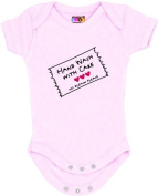 """Hand Wash with Care"" Pink Bodysuit/Onesie"
