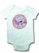Light of Mine Designs Baby Bee Short Sleeve Bodysuit