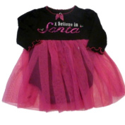 Baby Glam Infant Girls Onesie Christmas Creeper Black Pink Tulle Skirt Dress
