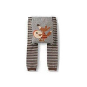 Wrapables Baby & Toddler Busha Leggings, Drummer Fox- 6 to 12 Months
