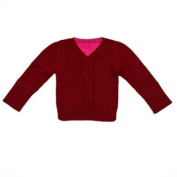 Egg by Susan Lazar Reversible Alpaca Blend Sweater - Berry