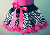 Zebra and Hot Pink Petti skirt for 12 Months to 8 Years