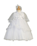 Embroidered Organza Bodice with Crystal Tulle and Organza Overlay Christening Baptism Special Occasion