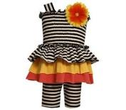Bonnie Baby Baby-Girls Infant Smocked Bodice Tierred Skirt with Knit Capri
