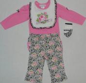 Nursery Rhyme Girl's Wild Child 4 Piece Clothing Set