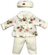 Toddler Girl Polar Fleece Outfit with Roses 4t