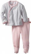 Magnificent Baby-Girls Newborn Long Sleeve Kimono Top And Pant Set