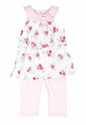 Nursery Rhyme Floral Bouquet Ruffle Tunic and Legging Set