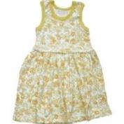 Organic Baby Dress - Tropical Flower 24 Months Yellow Baby Dress