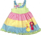 Rare Editions Colorblock Seersucker Flip Flop Dress 3T