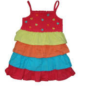 Samara Baby Girls Ruffle Dress, Calypso Coral