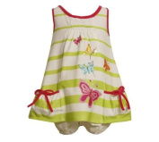 Bonnie Jean Baby Girls Screen Printed Butterfly Sun Dress, Green, 0-3 - 6-9 Months