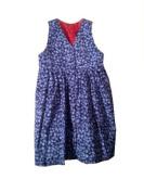 Girls Reversible Jumper Dress-Medium- Strawberry/Blueberry