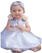 Infant Baby Girl Formal Party Silk Top Dress #302