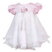 Rare Editions Pink and White Venise Bodice Wire Dress