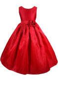 AMJ Dresses Inc Girls Red Flower Girl Christmas Dress Sizes 2 to 12