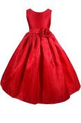 AMJ Dresses Inc Girls Red Flower Girl Christmas Dress Sizes 2 to 12