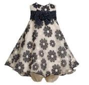 Bonnie Jean- NAVY DAISY DRESS