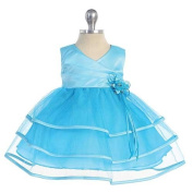 Chic Baby Turquoise Tulle Tier Special Occasion Dress Baby Girls 3-24M