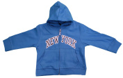 New York City Infant Baby Zippered Hoodie Sweatshirt Turquoise