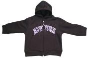 New York City Infant Baby Zippered Hoodie Sweatshirt Black