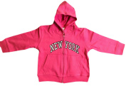 New York City Infant Baby Zippered Hoodie Sweatshirt Hot Pink